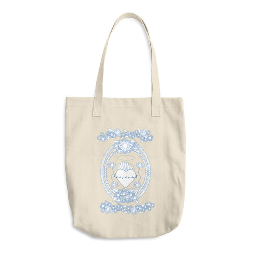 Daisy Blue and White Tote Bag - Azzurra Soul