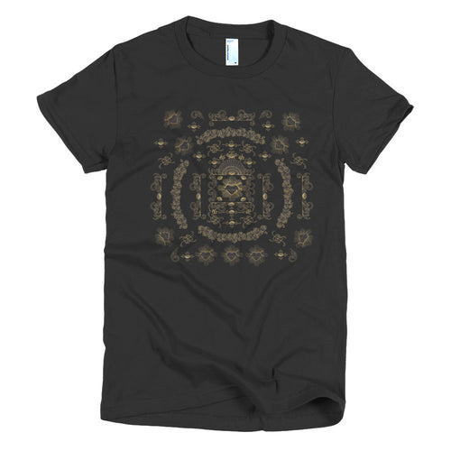 Baroque Black and Gold T-shirt - Azzurra Soul