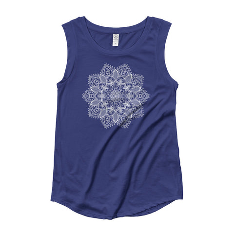 Lotus Mandala Cap Sleeve T-Shirt