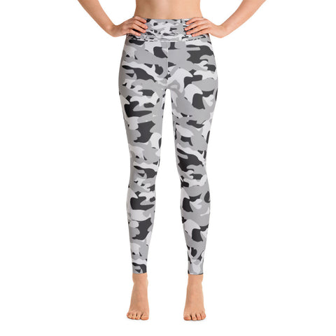 Black and White Army Yoga Leggings