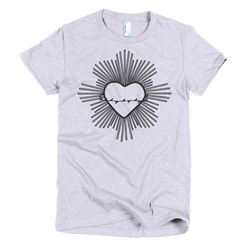Radiant Heart Black T-shirt - Azzurra Soul