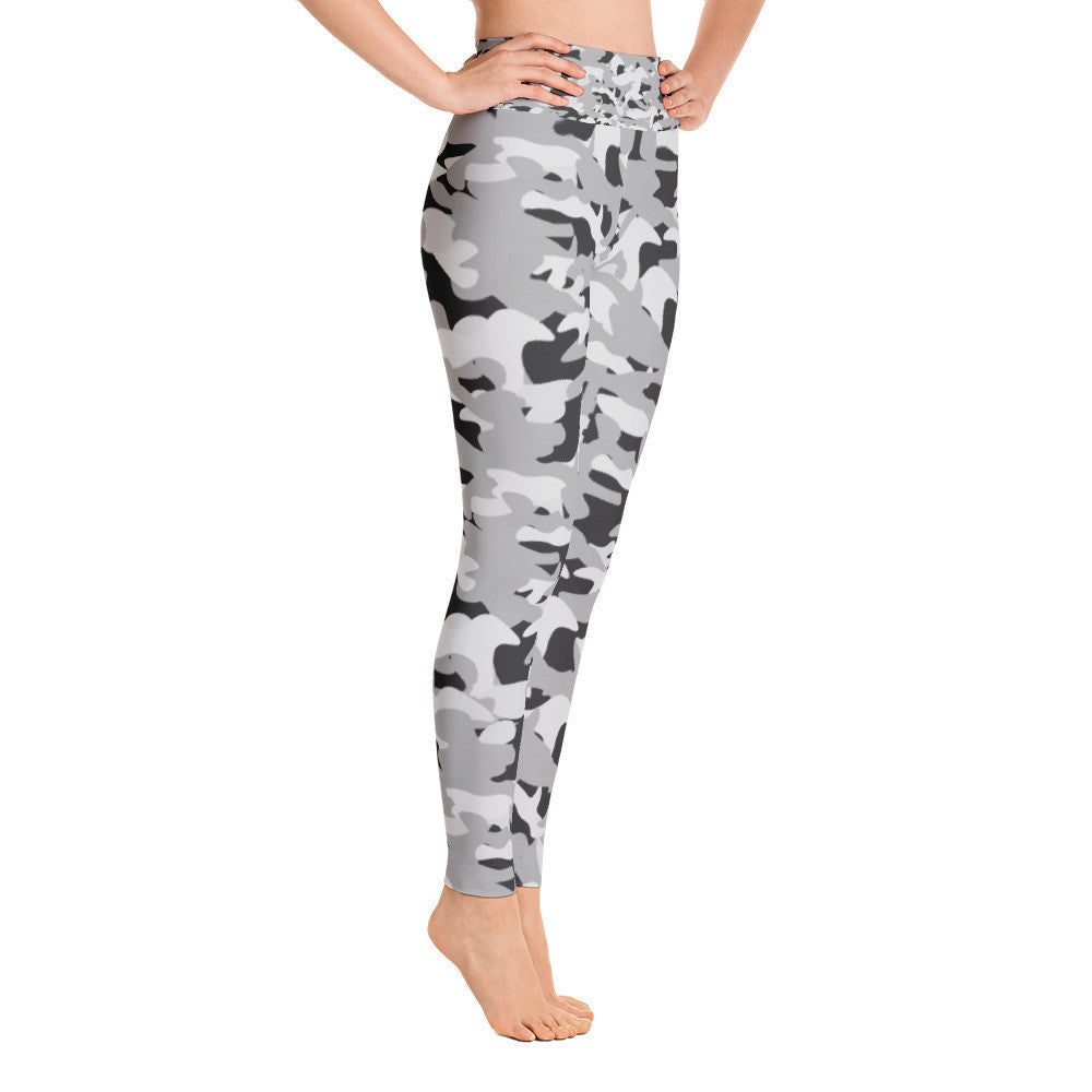 Black and White Army Yoga Leggings - Azzurra Soul