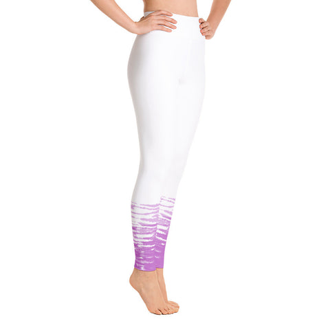 White and Pink Tie Dye Yoga Leggings