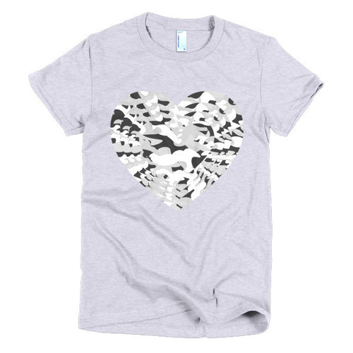 Black and White Army Heart Women's t-shirt - Azzurra Soul