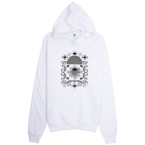 Baroque Shell and Hearts Hoodie - Azzurra Soul