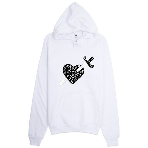 Heart, Crosses and Sword Hoodie
