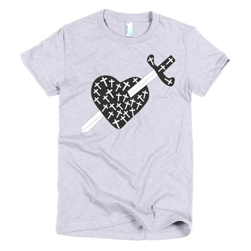 Heart, Crosses and Sword t-shirt - Azzurra Soul
