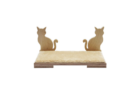 "Cat shelf Tabby 19""x9"""