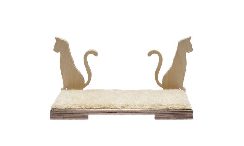 "Cat shelf Siamese 19""x9"""