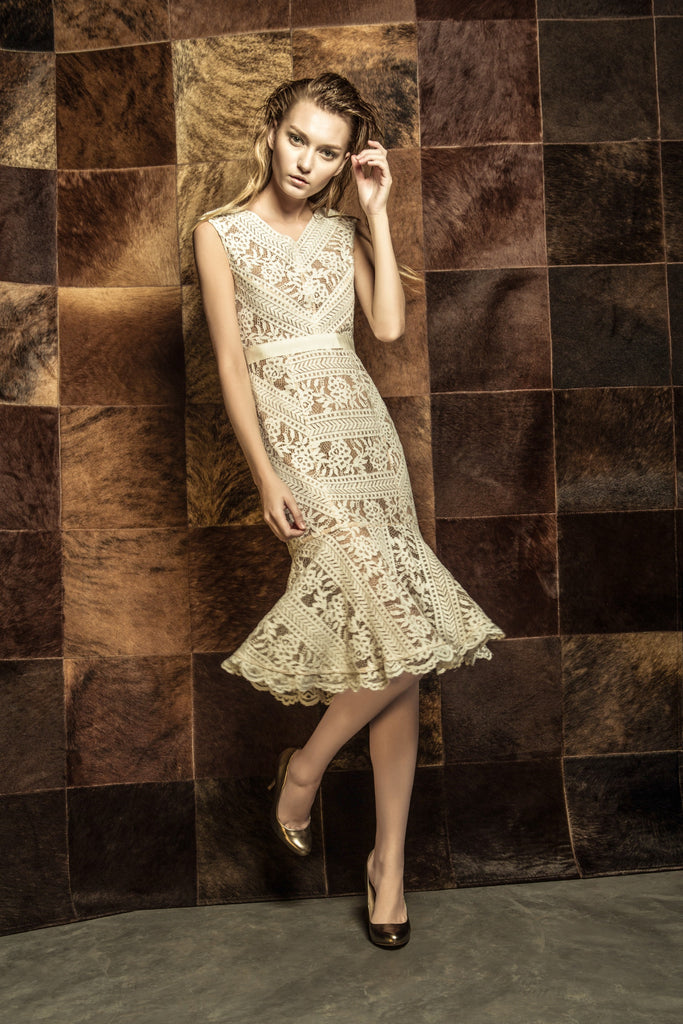 Grace Lace Dress White