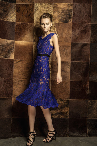 Grace Lace Dress Blue