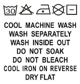 SH1-004 Wash Care Label