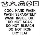 SH1-006 Wash Care Label