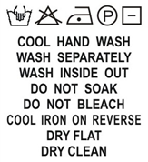SH1-021 Wash Care Label