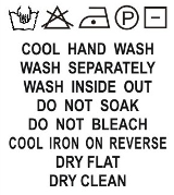 SH1-026 Wash Care Label