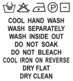 SH1-029 Wash Care Label