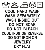 SH1-035 Wash Care Label