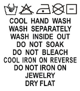 SH1-036 Wash Care Label