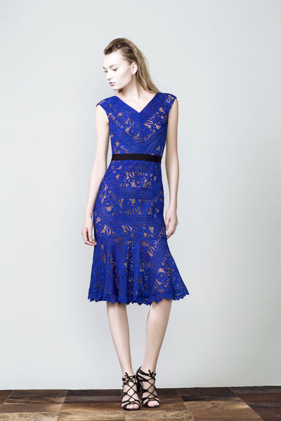 Grace Lace Dress - Royal Blue