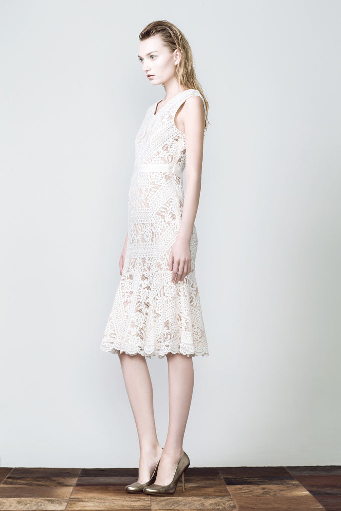 Grace Lace Dress - White