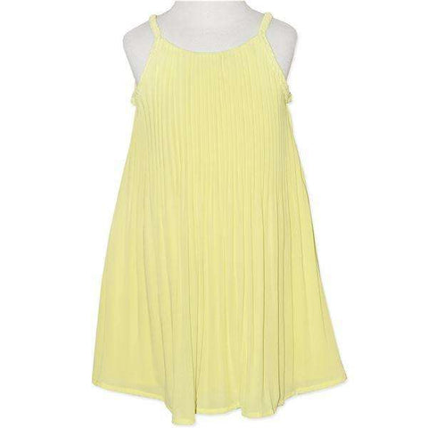 BABY GIRLS' LEMON PLEATED DRESS