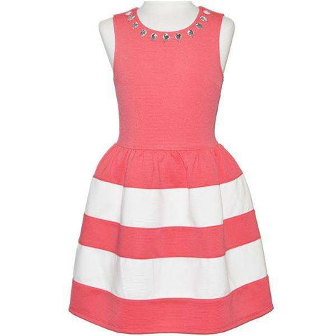 GIRLS' MULTI STRIPE PARTY DRESS