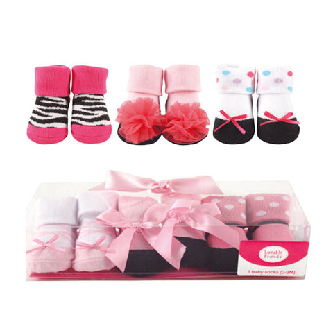 SIMPLY LOVELY SOFT SOCKS FOR NEWBORN TO 9 MONTHS