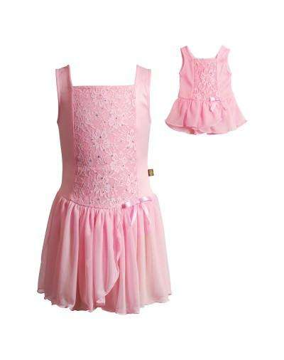 SPARKLING BALLERINA DANCE LEOTARD WITH MATCHING DOLL OUTFIT