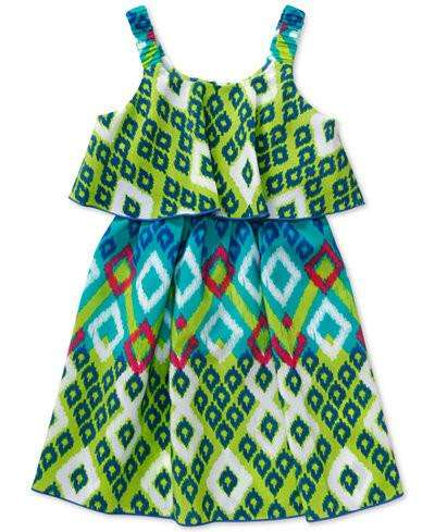 LITTLE GIRLS' AZTEC POPOVER DRESS