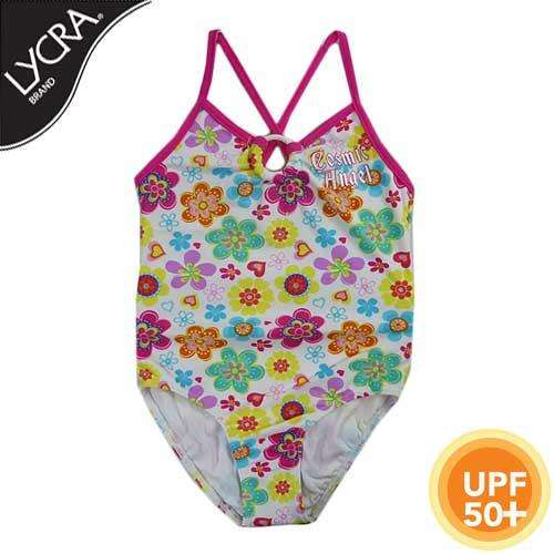GIRLS' LYCRA FLORAL SWIMSUIT