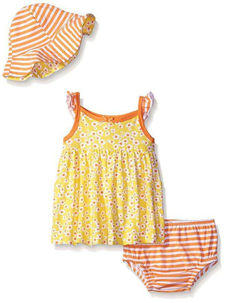GIRLS' TWO & 3 PIECES SUNDRESS AND HAT SET
