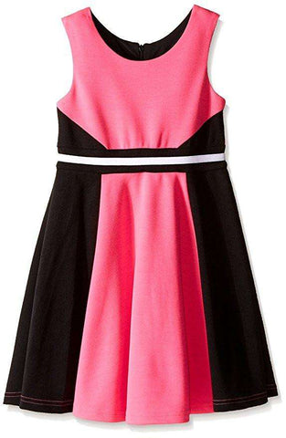 BIG GIRLS' KNIT COLOR BLOCK DRESS