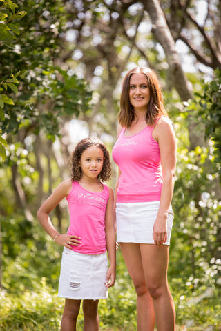 MATCHING MUM & CHILD BLING TANK TOPS SET