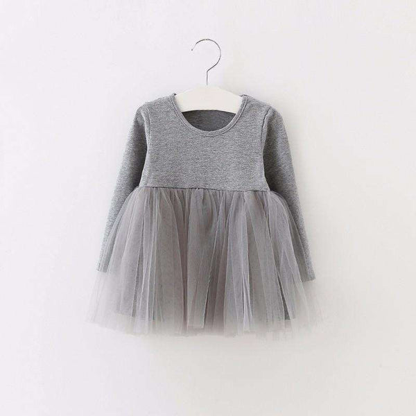 BABY/TODDLERS' FANCY PARTY DRESS WITH MESH SKIRT