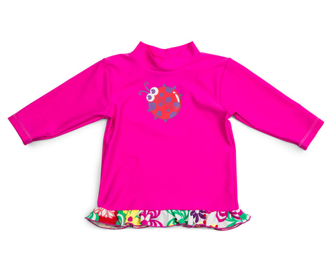 BABY CUPID GIRLS' LS RASH TOP