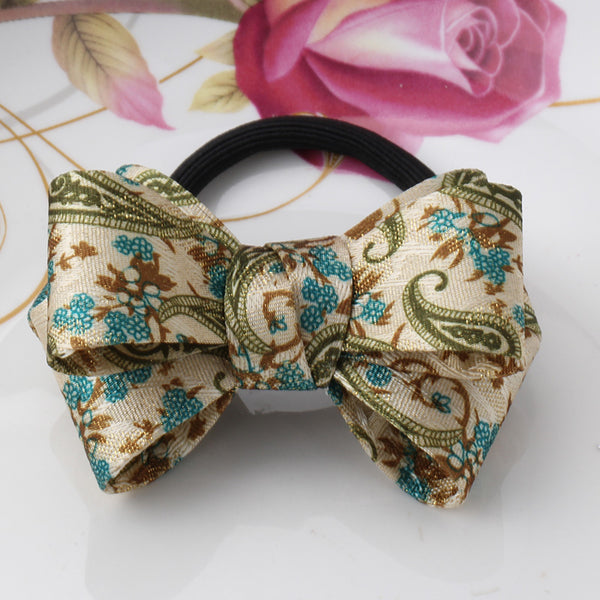 ELASTIC BAND BIG HAIR BOWS FOR GIRLS