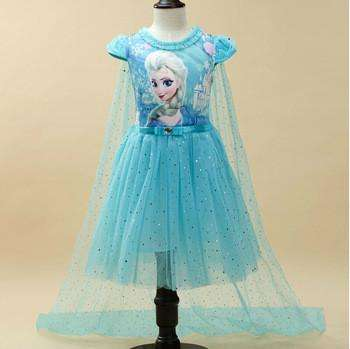 FROZEN COSTUME/PARTY DRESS WITH CAPE
