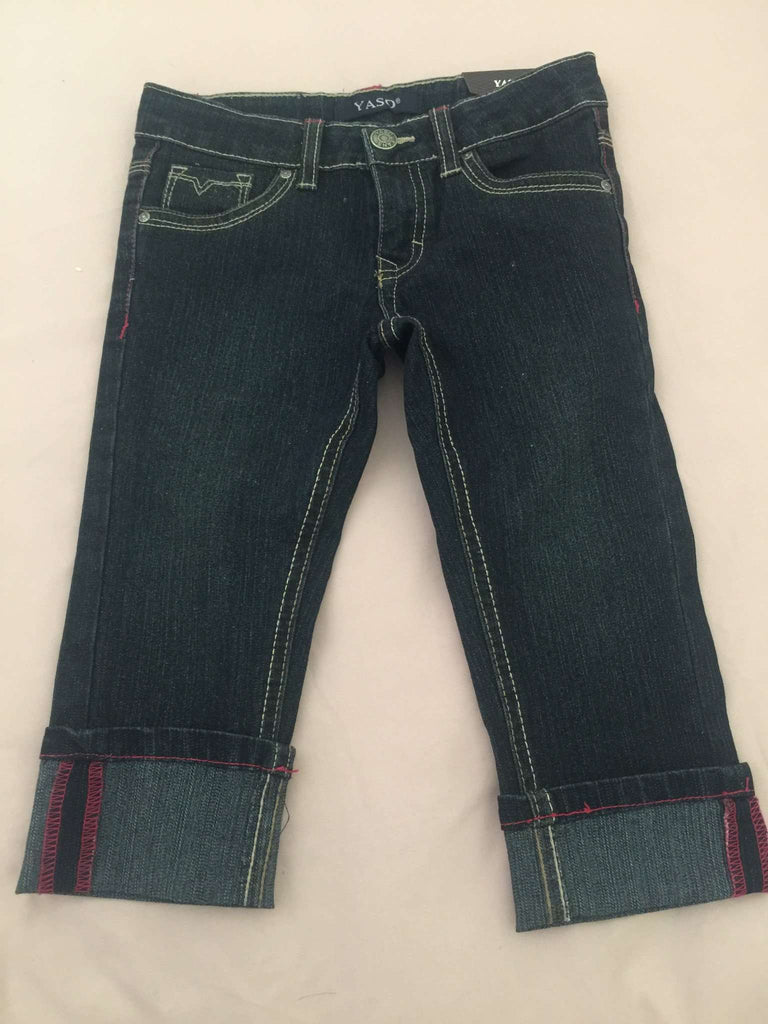 GIRLS' CROPPED JEANS