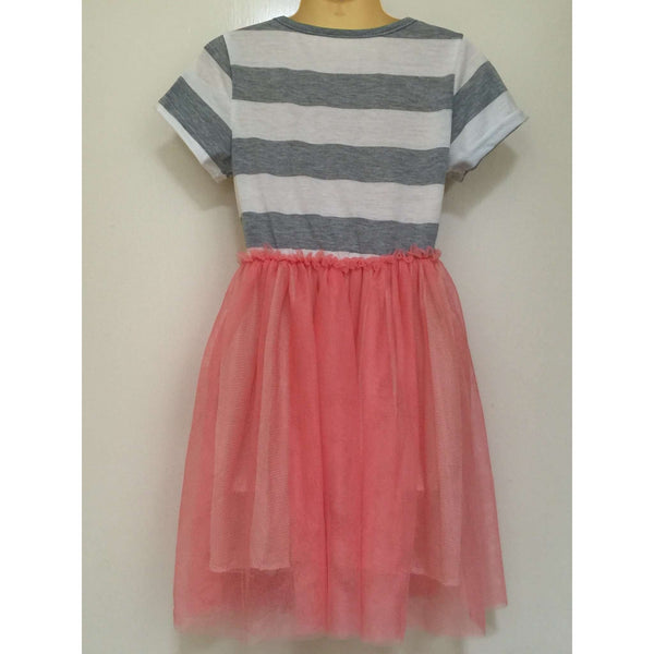 GIRLS' STRIPED PATCHWORK DRESS