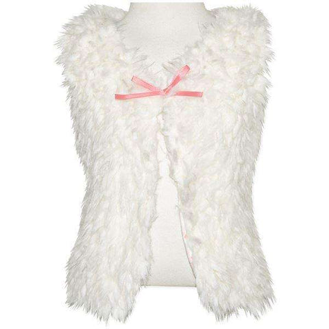 LITTLE GIRLS' FUR VEST