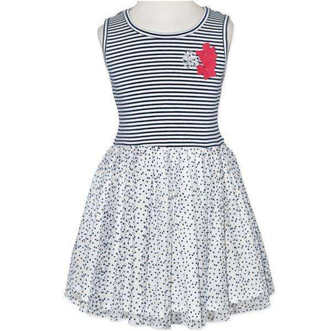 LITTLE GIRLS' POPPY STRIPE