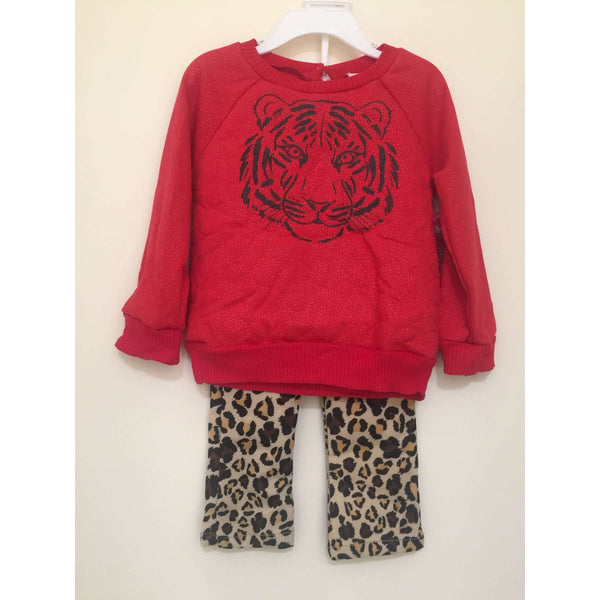 GIRLS' 2PCS TOP & PANT SET