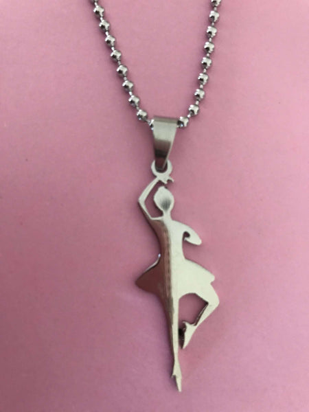 BALLET STAINLESS STEEL PENDANT NECKLACE