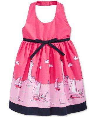 BABY GIRLS' SAILING HALTER DRESS