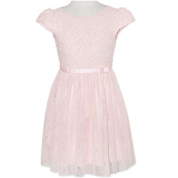 GIRLS' PINK LACE DRESS