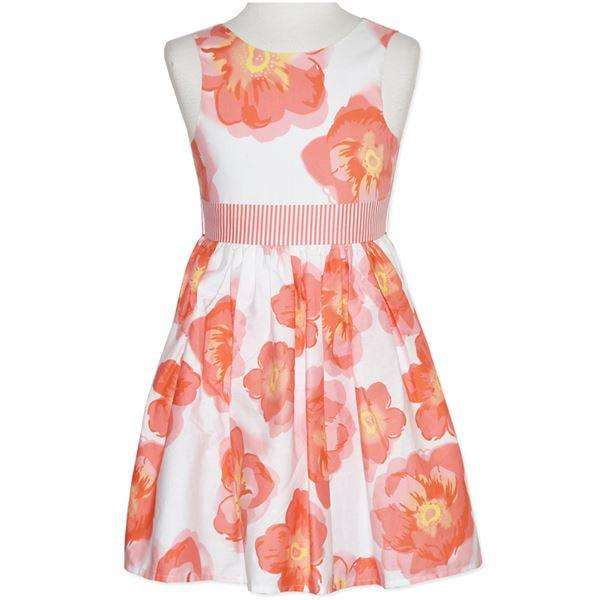 GIRLS' FLORAL PRINTED DRESS