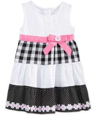 BABY GIRLS' DAISY TIERED DRESS