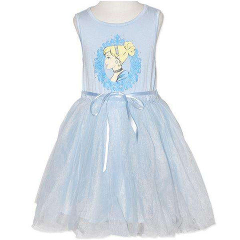 GIRLS' LICENSED DISNEY PRINCESS BLUE DRESS