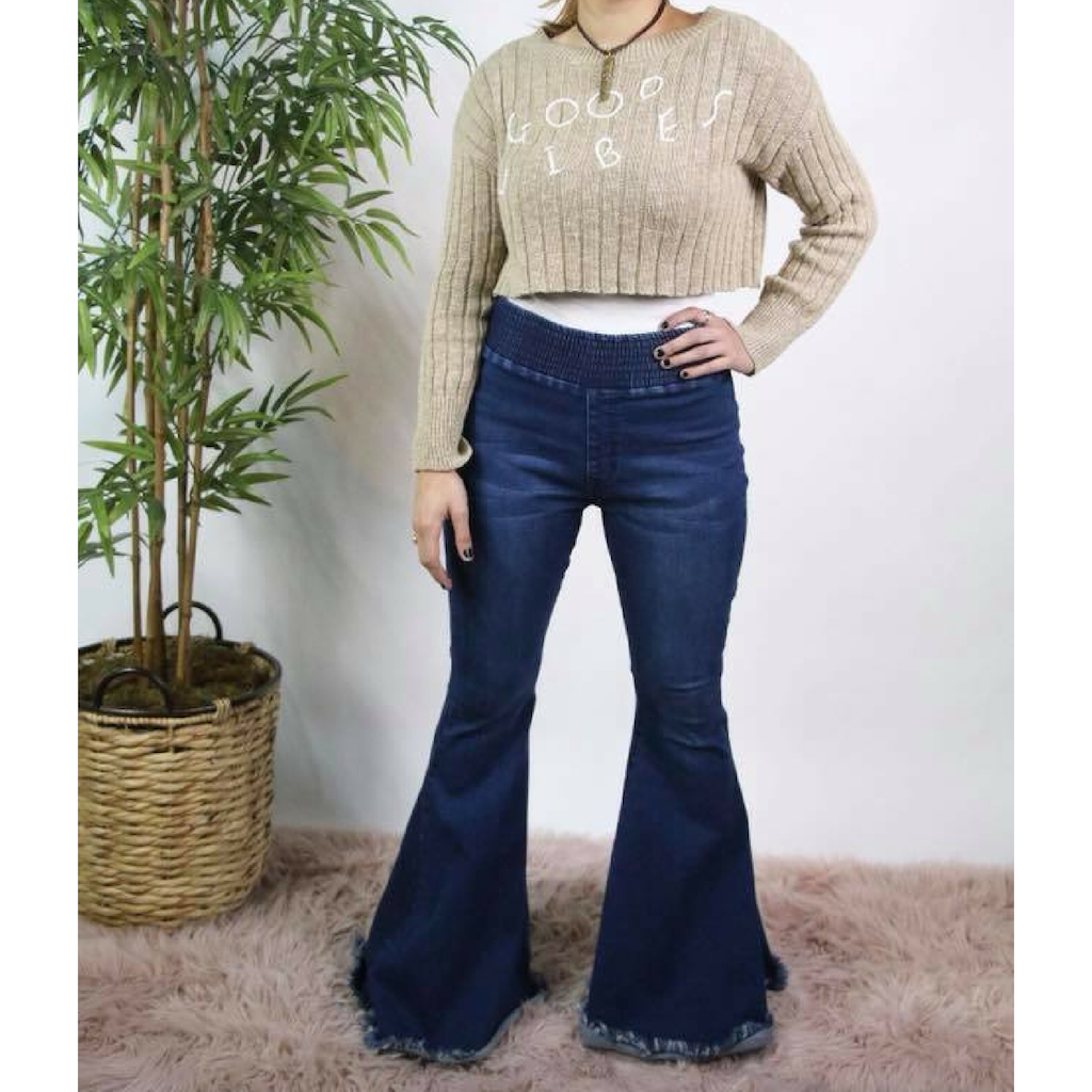 Dark Wash Bell Bottoms