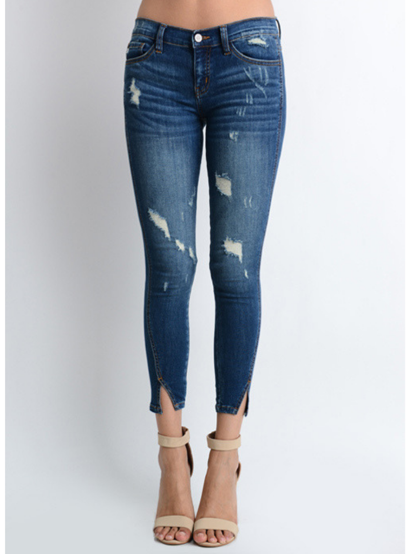 Kan Can Super Skinny Cropped Jeans
